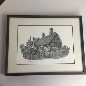Rare Anne Hathaway's cottage signed Anthony John